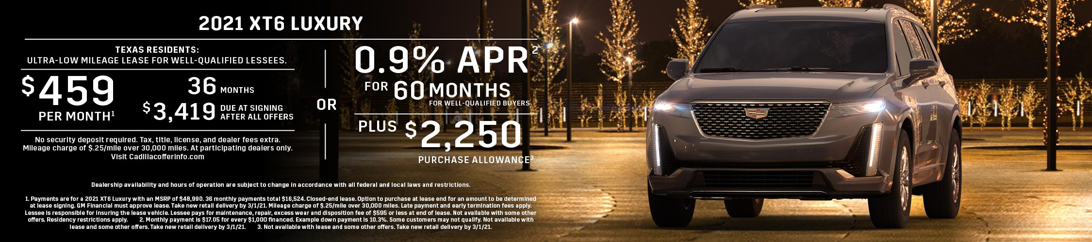 2021 XT6 Luxury: Lease or APR Offer (Image) - 951433